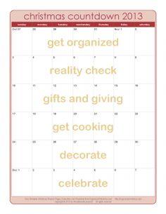 2013 Christmas Countdown Calendar