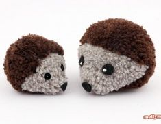 Not all hedgehogs are prickly. These Pom Pom Hedgehogs are the cuddliest little hedgies you'll ever meet! You can make these cute crafts for kids in no time. You'll be surprised how easy it is to make these super soft pom pom crafts. Cute Crafts, Hobbies And Crafts, Yarn Crafts, Crafts To Make, Crafts For Kids, Arts And Crafts, Kids Craft Projects, Homemade Crafts, Easy Diy Crafts