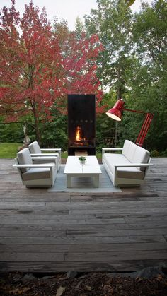 Create your outdoor oasis with our unique and modern collections. Made in the USA with recycled materials. Sustainability is at our core. Ultra-durable outdoor lounge chairs, adirondacks, sofas, tables and seating available in variety of colors. Hillside Landscaping, Country Landscaping, Modern Landscaping, Outdoor Lounge, Outdoor Dining, Backyard Patio Designs, Decks And Porches, Back Patio, Lounge Chairs
