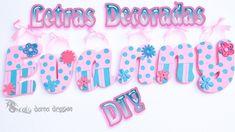 Letras decoradas con pasta Das Diy - Craft   Porcelana Fría, Arcilla pol...