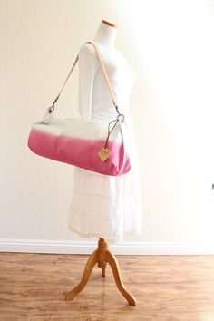 Ombre Yoga Mat Bag...Aquamarine or Pink (with leather strap)....one size