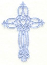 Adorable Ideas Embroidery Design: Cross Small 3.00 inches H x 2.15 inches W