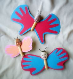 handprint butterflies by lilfishstudios, via Flickr