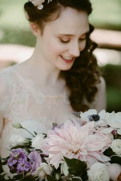 Pretty pink and purple wedding inspiration | Image by Suzuran Photography
