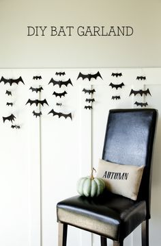 DIY Bat Garland - so