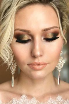 30 Wedding Make Up Ideas For Stylish Brides  We've created collection of wedding makeup. There are ideas for unique make up elegant make up that will be appropriate for different eyes' colours. See more: www.weddingforwar... #weddingmakeup