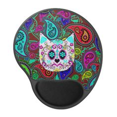 Hipster Cat Sugar Skull Teal Pink Retro Paisley Gel Mouse Pad In our offer link above you will seeDeals          	Hipster Cat Sugar Skull Teal Pink Retro Paisley Gel Mouse Pad Review on the This website by click the button below...
