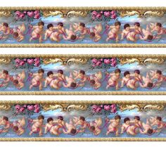 Dolls House Wallpaper Border 77 ins long  Quality Paper 1/12th 1/24th B25