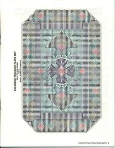 Country Quilt Rag Place Mats~ Byzantine Treasure * 4/14