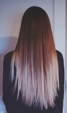 Long brown blond hair