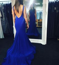 Backless Prom Dresses,Royal Blue Prom Dress,Backless Formal Gown,Open Back Prom Dresses,Open Backs Evening Gowns,Formal Gown For Teens PD20181499