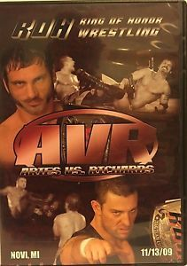 Mouse over image to zoom  Have one to sell? Sell now Details about  Ring of Honor Wrestling Aries Vs Richards DVD 11-13-09 ROH OOP WWE TNA PWG