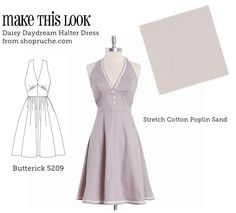 """""""Marilyn"""" dress. Thinking about doing this up in a gingham or cherry print with the sash part in bright red."""