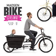 """We're giving away the hottest bike to hit the streets! For your chance to win a Madsen cycle, go to our Instagram (@Sarah Kachevas Me Rad 5K) and """"Like"""" Madsen Cycles!"""