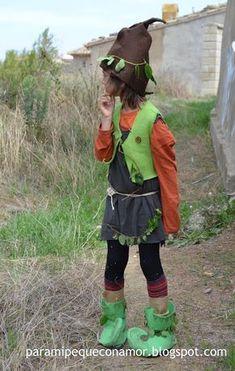Para mi peque con amor: Disfraz de duende del bosque (referencia a tutoria...
