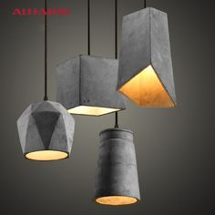 145.00$ Buy here - http://aliz64.shopchina.info/go.php?t=32596852200 - ALHAKIN Cement Pendant Lights For Restaurant Diving Room Tbale Lamps E27 Lampbase Pendant Light Art Home Lighting Hanging Lamps 145.00$ #buychinaproducts
