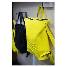 Cause you mainly hang your artwork on the wall Yellow unisex backpack - rucksack. By Bagology London