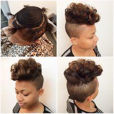 Shaved Mohawks for Black Women   mohawk hairstyles for ...