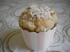 Coconut Party Cupcake, for one (gluten-free, vegan) - Treats With a Twist
