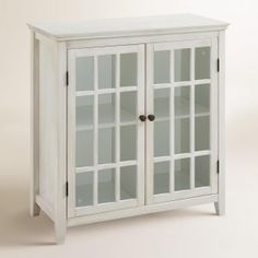 Decorative Storage Cabinets With Glass Doors