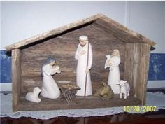 Wood Nativity Creche Stable Perfect for Willow Tree Nativity | eBay