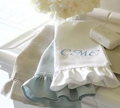 Ruffle Guest Towels, Set of 2 #potterybarn