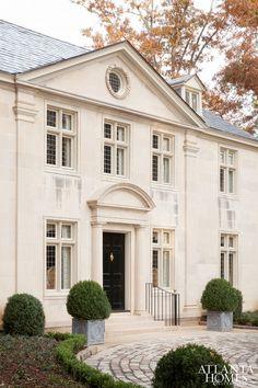 Architect Neel Reid designed 1919 Somerset House, Buckhead, GA. Architect Keith Summerour renovation. Emily Followill photo in Atlanta Homes & Lifestyles.