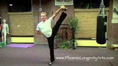 Very advanced stretching and balancing…make sure to have a chair handy if you want to try these with modifications...4 Kung Fu Stretches for Ultimate Kicks