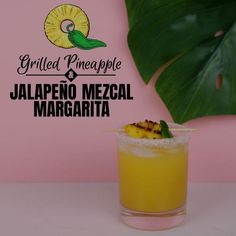 This smoky Mezcal Margarita is made with spicy jalapeño and sweet grilled DOLE® Canned Pineapple Slices for a new and exciting combination of flavors that will most definitely be an adventure for your taste buds!