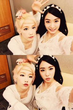 SNSD's TaeYeon and Tiffany posed for a set of cute SelCa pictures