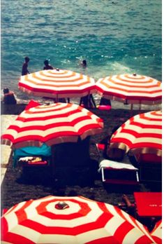 Amalfi Coast - there's something about colorful umbrellas that is cheerful!
