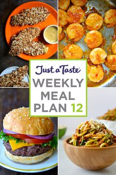 Weekly Meal Plan 12 and Shopping List | recipes via justataste.com