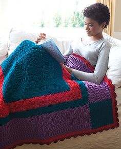 Ravelry: Lancaster Quilt pattern by Katherine Eng - Inspired by Amish quilts, this crochet blanket is stitched in deep, glowing colors. (hva)