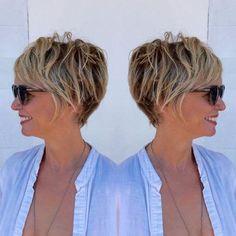 Fryzury damskie krótkie dla 50-latek