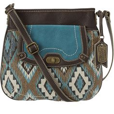 Nine West Native State Cross Body ($30) ❤ liked on Polyvore