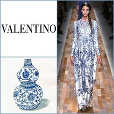 Collection: Valentino FW13/14  Inspiration: Ming vases