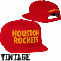 f3528444f238ba Mitchell & Ness Houston Rockets Hardwood Classics Title Snapback Hat - Red