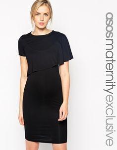 ASOS Maternity NURSING Shift Dress With Asymmetric Overlay -- BOOM! Asos totally gets me.