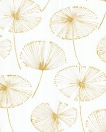 Like a golden sunset shining down, this painterly frond wallpaper is pure joy. The unique design features a white background with abstract gold watercolor designs. Traditional wallpaper has irresistible elegance because it's classic and stands the te Gold Watercolor, Watercolor Wallpaper, Watercolor Design, Plant Wallpaper, Colorful Wallpaper, White And Gold Wallpaper, Contemporary Wallpaper, Wallpaper Samples, Pattern Wallpaper