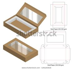 Find Box Packaging Die Cut Template Design stock images in HD and millions of other royalty-free stock photos, illustrations and vectors in the Shutterstock collection. Diy Gift Box, Diy Box, Box Packaging, Packaging Design, Paper Bag Design, Paper Box Template, Diy Donuts, Diy Casa, Origami Paper Art