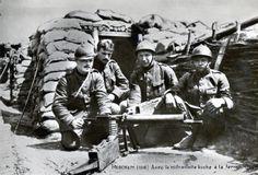 WWI: Belgische soldaten in de loopgraven Merkem (houthulst)
