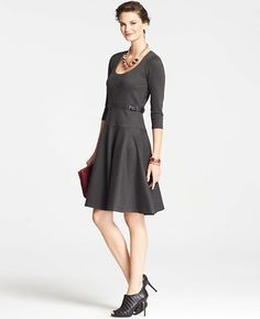 Ponte Swing Dress - Anne Taylor.  Is this too casual?