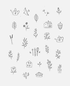 Ryn Frank is a freelance illustrator, specialising in hand drawn illustrations. Mom Tattoos, Cute Tattoos, Flower Tattoos, Small Tattoos, Sleeve Tattoos, Tattoos For Women, Bullet Journal Ideas Pages, Bullet Journal Inspiration, Petit Tattoo