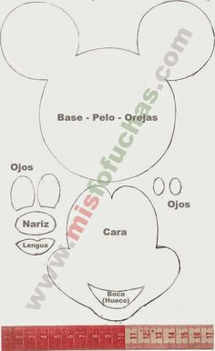 Mickey Mouse cut out Mickey E Minnie Mouse, Theme Mickey, Fiesta Mickey Mouse, Mickey Party, Mickey Mouse Clubhouse, Mickey Mouse Birthday, Disney Mickey, Minnie Mouse Template, Mouse Crafts