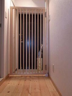 天然木の猫脱走防止ドア完成 : あおきいろ帳