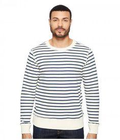 Joe's Jeans - Edison Sweatshirt Vintage Sailor Stripe (Ecru/Sailor) Men's Sweatshirt