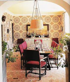 dining, peter dunham, great bohemian warmth with a twist on traditional