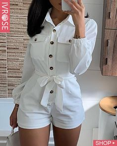 Women's Fashion Rompers Online Shopping – IVRose Rompers Women, Jumpsuits For Women, Women's Rompers, Trend Fashion, Womens Fashion, Style Fashion, Gothic Fashion, Casual Outfits, Cute Outfits