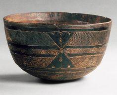 Bowl, Geometric Pattern, 19th–20th century; Fulani Fulani people; Mali, western Sudan Wood; H. 5 3/4 in. (14.6 cm)