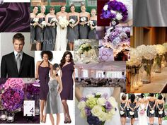 Plum and Charcoal - this is the color palette I want, with some moss green accents!!!